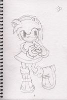 Amy Rose love heart sign by Megalomaniacaly