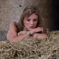 With Anna in the hay 5 by PhotographyThomasKru
