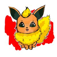 Chibi Flareon by cssnipez