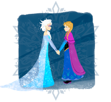 Frozen Sisters - Elsa and Anna by Urani-a