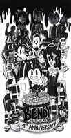 Bendy and The Ink Machine - 1st Anniversary by FTFTheAdvanceToonist