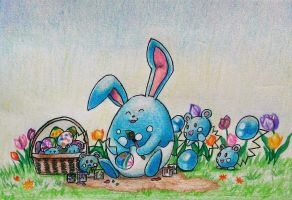 Easter with azumarill and azurills