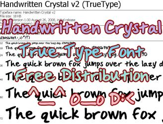 Handwritten Crystal Font by CrystalsMuse
