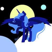 Luna silhouette by Vanchees