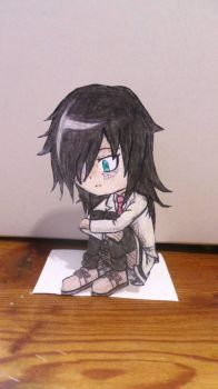 Tomoko Kuroki paper thingy by MechaDeka