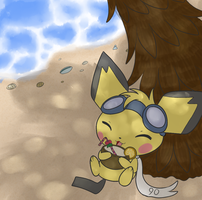Relaxing on the beach by KiwiBeagle
