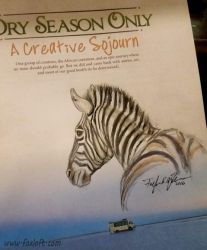Dry Season Only Book - Zebra Sketch by Foxfeather248