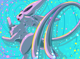 pokeddexy 15 psychic - espeon by Peegeray
