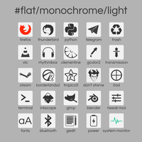 #flat/monochrome/light by crunchpaste