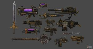 XPS Release! Chaos Marines Weapon Pack by Merytaten-tasherit