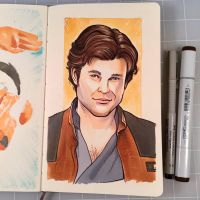 Solo: A Star Wars Drawing by D-MAC