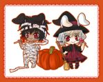 GetsuKoko - Halloween chibis by Kawaii-Dream