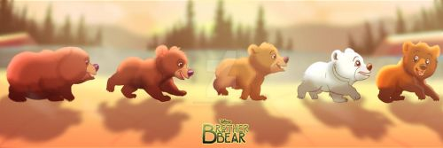 For R-FakonWolf: Brother Bear - Koda and the Gang by imaginativegenius099