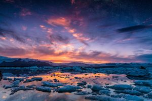 Jokulsarlon and milky way by BSGuyIncognito