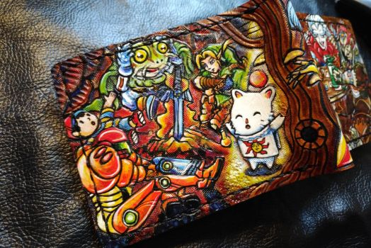 Kupo, praise the sun ! The good, Leather wallet by Bubblypies