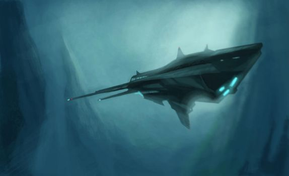 Underwater space trace. by reco-rem