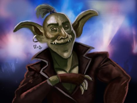 A goblin in a concert by IcedEdge