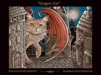 The Dragon Cat Named Trouble by natamon