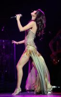 Giantess Selena Gomez steps on some fans by Cinematic-GTS