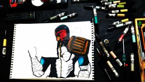 Judge Dredd WIP by Solla-Damian