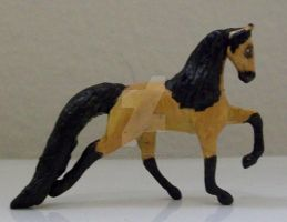 Buckskin Micro Mini Tennessee Walker by ElkStarRanchArtwork