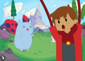 danny and catbug bravest warriors~ by KilluaIceCream