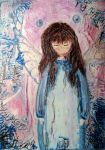 Angel by dragonflywatercolors