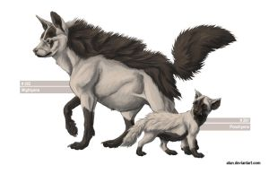 Poochyena and Mightyena