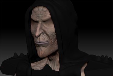 ZBRUSH WIP - Wheel Of Time Myrddraal Bust 01b by VR-Robotica