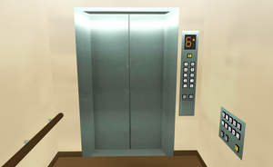 MMD Elevator stage by amiamy111