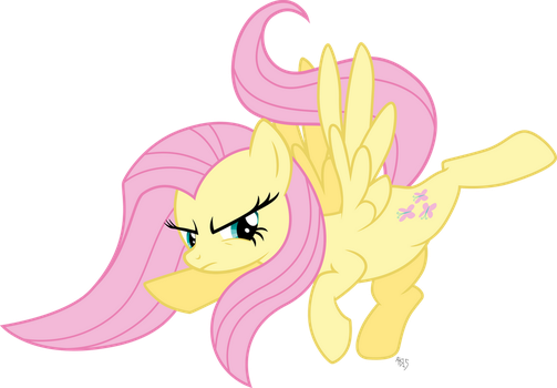 Fluttershy Reverse High Kick by ABadCookie