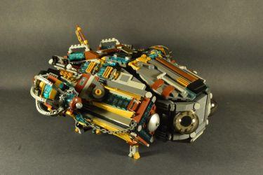 Darling Royale - a steampunk spaceship by SteamNewt