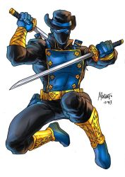 Ronin Ranger in color as drawn by Gilbert Monsanto by REZcat