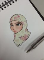 Flower Hijabi by finieramos