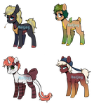 Fall Ponies Adopts (SEE CLEAR OUT) by ratjayadopts