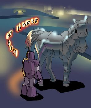 Robot Horse Co2l by hambot76