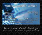 Custom Business Card - Wookster Computer Service