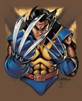 Wolverine colored by coloring by DelHewittJr