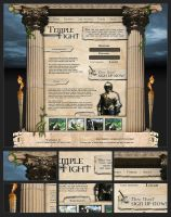 Webdesign - 'Temple Fight' by CybertronicStudios