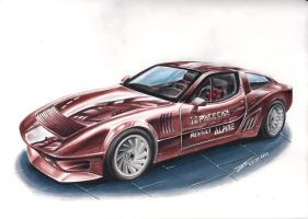 Alpine Renault A310 PPG Pace Car - Speed Drawing by MGLola