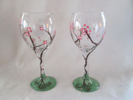cherry blossom Glass by yessica83