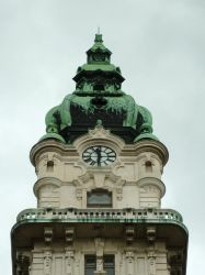 City hall Gyor, looking up by glanthor-reviol