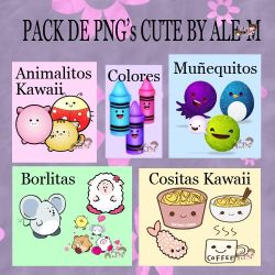 PACK PNG CUTE BY ALE-M by DDLoveEditions
