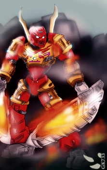 BIONICLE: Tahu Master of Fire by gk733