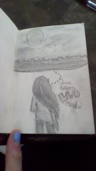 Study Hall Drawing by JustTheGirlOnFire