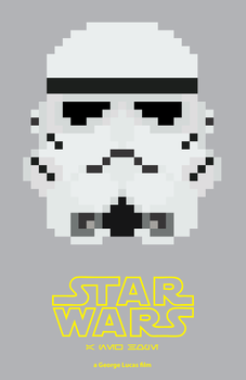 8-Bit Star Wars: A New Hope Poster by EpsilonTLOSdark4