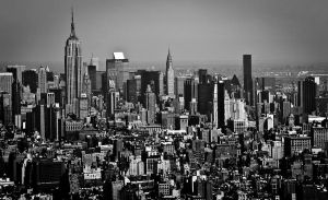 NYC helicopter view by DostorJ