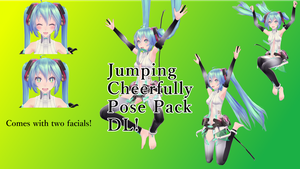 Poses Pack Series - 2 - Jumping Cheerfully (DL!) by ScarlettAckerman