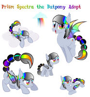 Prism Spectra the Batpony Adopt (Sold!) by Owl-Parchment