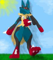 Tiny ant (Mega Lucario stomp) by Michael-95